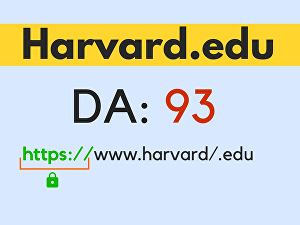 I will do 2 Harvard. Edu DA90 links dofollow backlinks