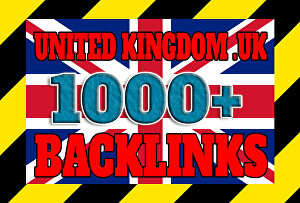 I will create over 1000 united kingdom UK backlinks