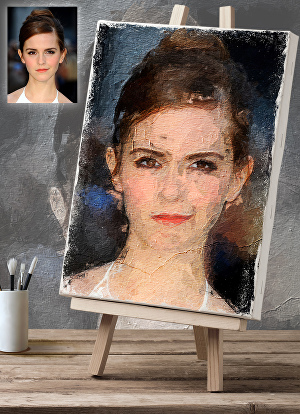I will draw a realistic oil painting of your portrait