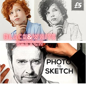 I will Do a Pencil Sketch Portrait from Your Photo