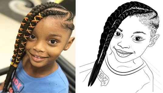 draw line art, cartoon character, or vector tracing illustration of your image