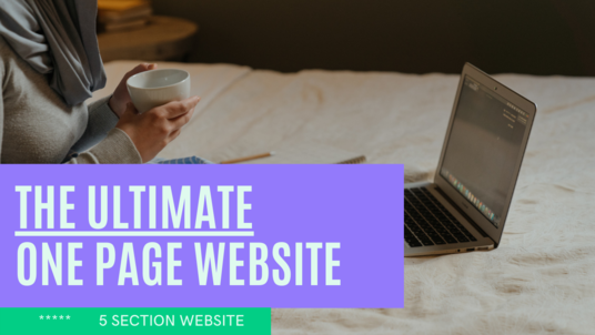 create a one page website