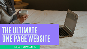 I will create a one page website