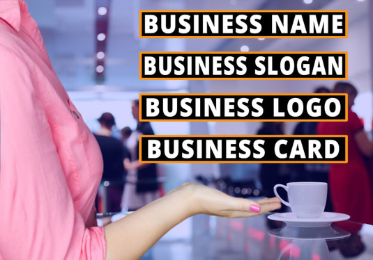 create a catchy business name and slogan or logo