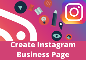 I will create instagram business page