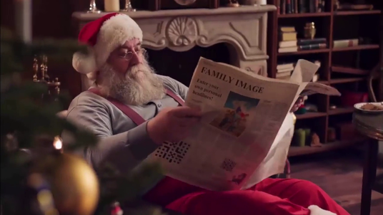 make Top Christmas promotional video with santa