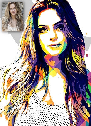 I will create the best wpap pop art of your portrait