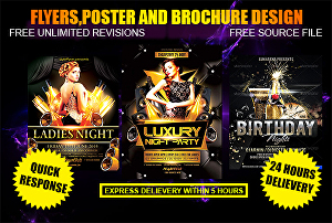 I will design beautiful and attractive flyers for you