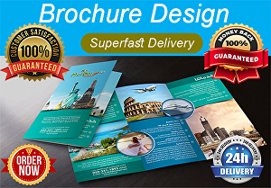 I will design beautiful and eye catching  tri fold and bi fold brochure