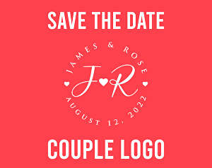 I will design save the date logo for wedding monogram