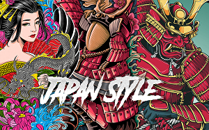 I will create Japanese style illustration for your brand