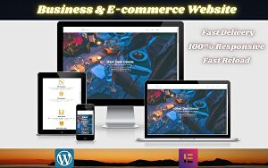 I will create a responsive WordPress web design, business website