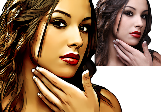 draw digital realistic oil painting portrait your photo