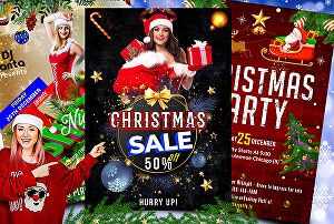 I will create awesome Christmas, New year, Party, Sports, Dj, Club, Disco flyer design within 24h
