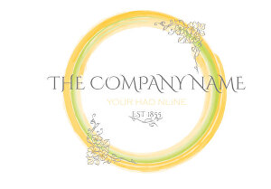 I will draw your logo in my watercolor style