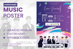 I will design awesome flyer, music poster for you