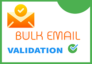 I will do bulk email verification, validation and cleaning