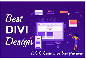 I will design divi WordPress website using divi theme