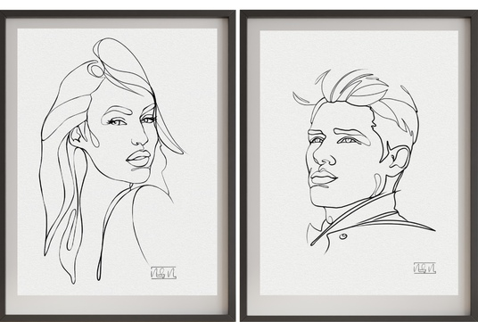 Draw Artistic One Line Portrait from Your  Photo