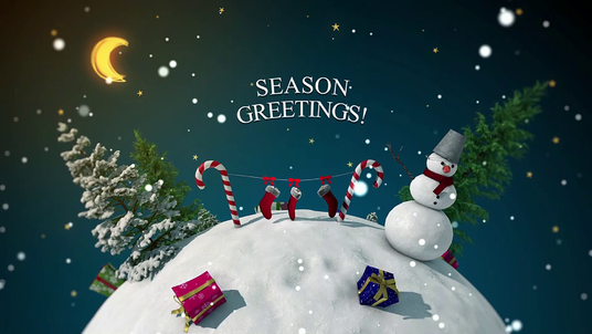 create this beautiful Christmas and New year  video