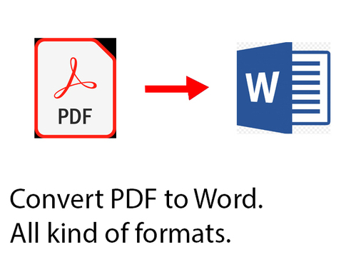 Convert PDF to Word up to 500 word