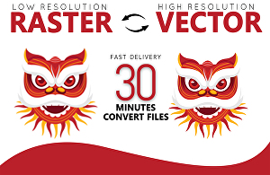 I will Convert Raster Logo Image to Vector File