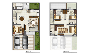 I will render 2d architectural floor plan