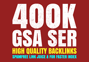 I will create highly verified backlinks for your website by using GSA SER