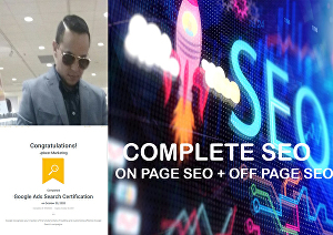 I will  do a Complete SEO for your Site to get first-page ranking on Google