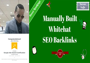I will Create high-quality SEO backlinks that will help boost your website's Google Ranking