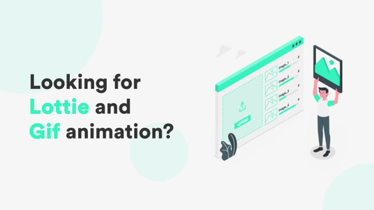 create GIF or JSON Lottie animation for mobile and web