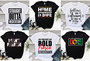 I will create amazing typography and eye-catching t-shirt design