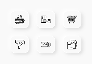 I will make 5 custom unique icon design line style