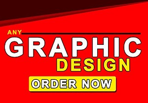 I will do awesome graphic design services of your choice