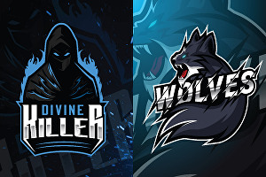 I will Design mascot and gaming logo for esports and twitch