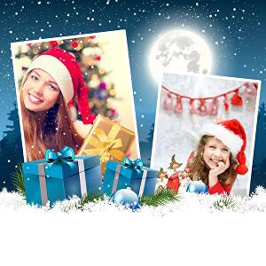 I will edit your picture with Christmas Gift, Snow, Santa and Christmas Hat