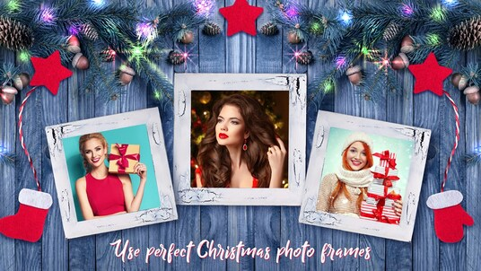 edit your picture with Christmas Gift, Snow, Santa and Christmas Hat