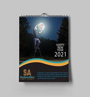 I will design eyecatching modern  elegant  wall calendar or desk calendar