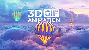 I will do 3d photo animation GIF