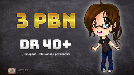 build 3 PBN Permanent Dofollow homepage Backlinks DR 40+