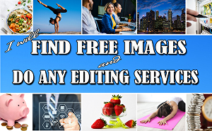 I will do research and find 30 royalty free stock images for your website