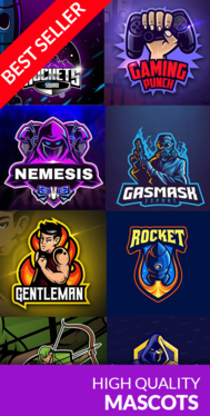 Create mascot logo design for sports, gaming, esport and twitch