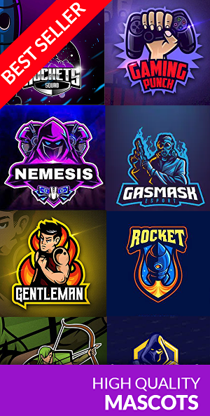 I will Create mascot logo design for sports, gaming, esport and twitch