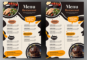 I will do restaurant menu and food flyer