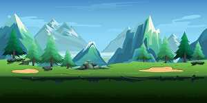I will draw background for your game, fairy tale, story