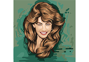 I will make a detailed colour vector art portrait