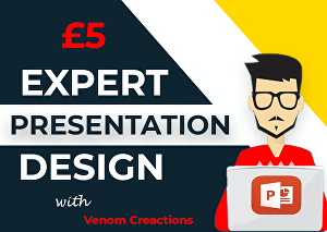 I will design powerpoint presentation slides with animation