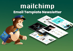 I will design mailchimp html email template professionally