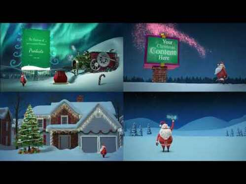 create this awesome Christmas video for your logo