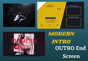 I will create youtube intro outro and end screen videos